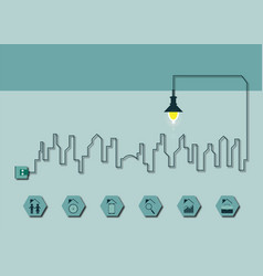 graphic design infographic electricity cityscape vector image