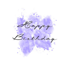 Hand painted watercolor greeting card vector