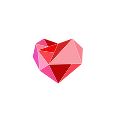 heart diamond logo design template vector image