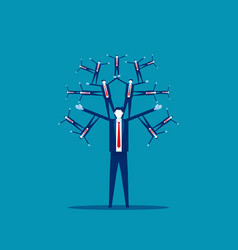 Human social network concept business people vector