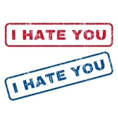 I Hate You Rubber Stamps vector image
