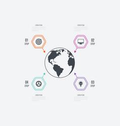 Infographics 4 options vector