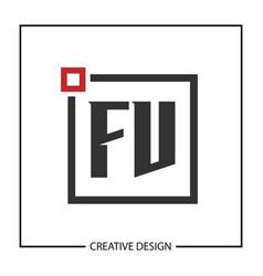 initial letter fv logo template design vector image