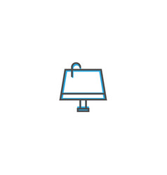 lamp icon design essential icon vector image