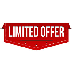limited offer banner design vector image