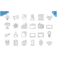 Linear icon set 2 - business vector