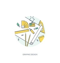 Lined outline graphic web design drawing vector