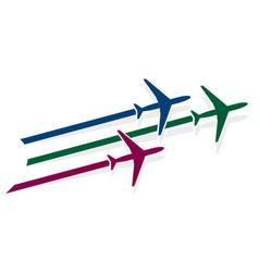 Logo of planes vector