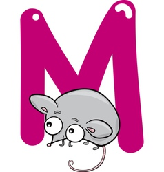 M for mouse vector image vector image