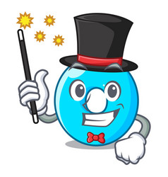 Magician number zero isolated on the mascot vector