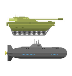 military technic army war tanks and industry vector image