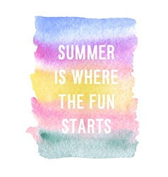 Motivation poster Summer is where the fun started vector