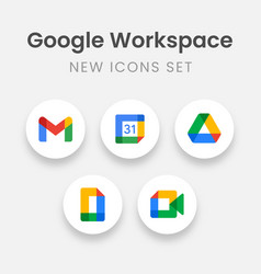 new google workspace icon set gmail google drive vector image