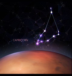 planet with a kind of the zodiac capricorn vector image