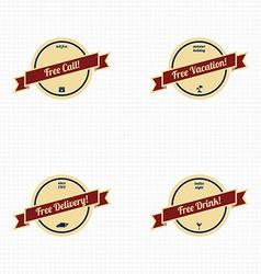 premium label vintage quality badge theme vector image vector image