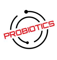 Probiotics typographic stamp vector