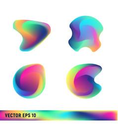 Rainbow titanium abstract shapes vector