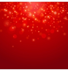 Red bokeh background vector