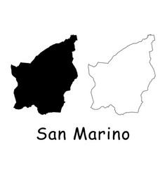 San marino map vector