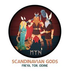 Scandinavian gods round composition vector