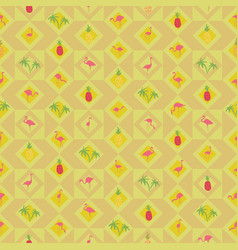 seamless wallpaper with tropical fruit pineapple vector image