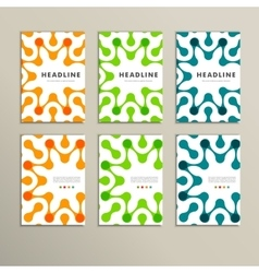 Set of six covers with abstract patterns vector image