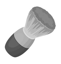 Shaving brushbarbershop single icon in monochrome vector