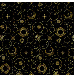 space luxury seamless pattern vector image