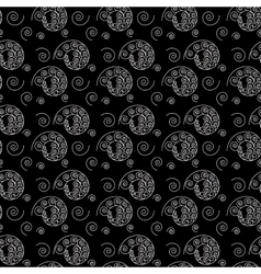 Spiral white seamless pattern vector image vector image