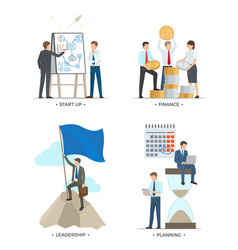 Startup and finance leadership vector