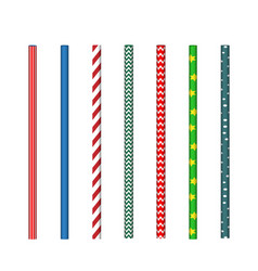 striped drinking straws vector image