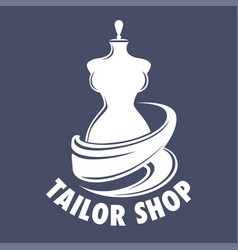 tailor shop isolated icon handmade clothes vector image