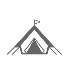 tent outline icon summer vacation vector image