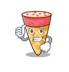 Thumbs up ice cream tone character cartoon vector