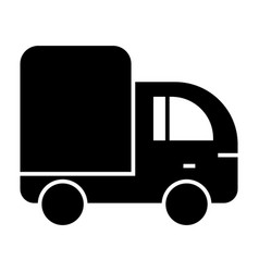 Truck solid icon lorry vector