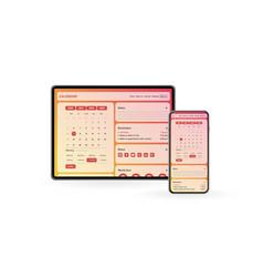 Untitledcalendar app concept 2020 page vector