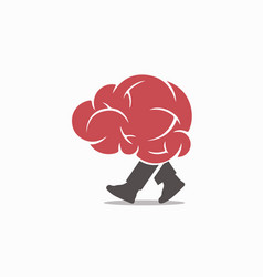 walking-brain-logo vector image
