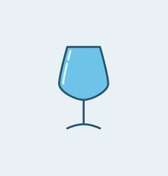 wine glass blue icon vector image