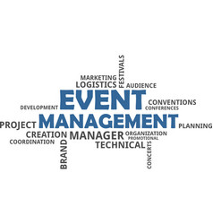 Word cloud - event management vector