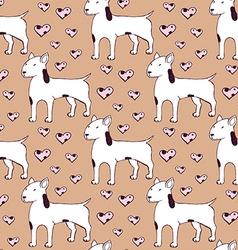Sketch bullterrier seamless pattern vector image