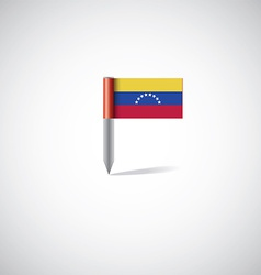 Venezuela flag pin vector