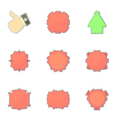 market labels icons set cartoon style vector image