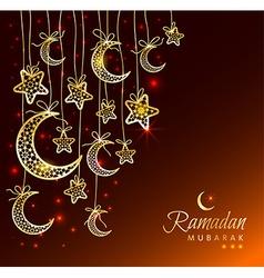 Ramadan Kareem celebration greeting card vector image