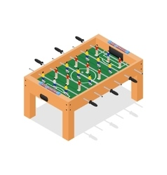 Table Football Game Isometric View vector image