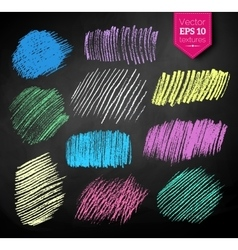 Color chalked hatching vector image