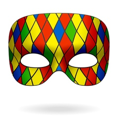 harlequin mask vector image vector image