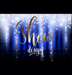 ice show design with blue curtain vector image vector image