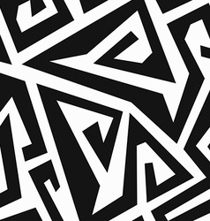 monochrome labyrinth seamless pattern vector image vector image