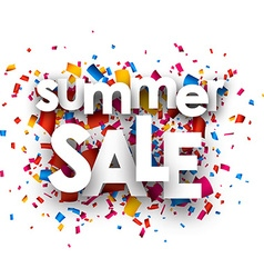 Summer sale paper background vector image