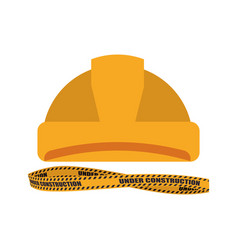 worker security helmet vector image